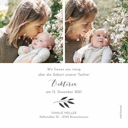 Geburtskarten Zweiglein (eckig) weiß - Seite 2