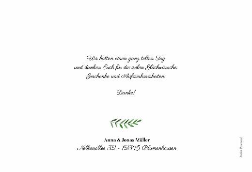 Dankeskarten Hochzeit Efeuzauber (lang) grün - Seite 2