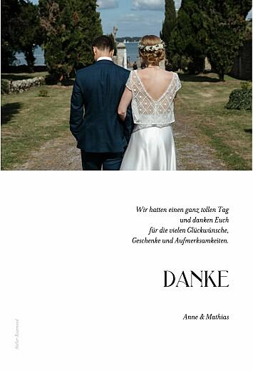 Dankeskarten Hochzeit Einzigartig weiß - Seite 2