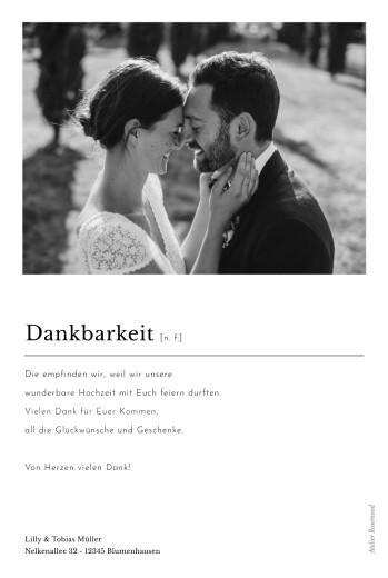 Dankeskarten Hochzeit Schreibmaschine (fotos) weiß - Seite 2