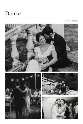 Dankeskarten Hochzeit Schreibmaschine (fotos) weiß
