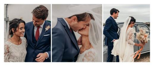Dankeskarten Hochzeit Panorama (3 fotos) weiß