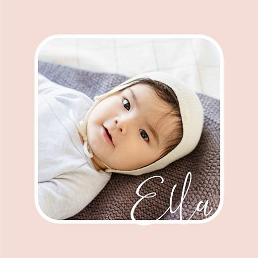 Geburtskarten Bonbon (mini) rosa