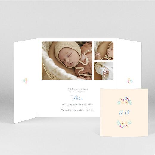 Geburtskarten Frühlingsbote (duo) weiß - Ansicht 2