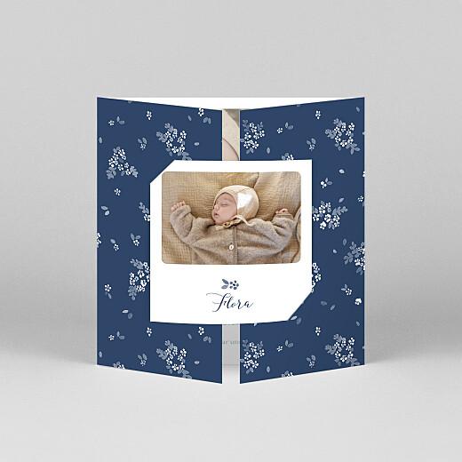 Geburtskarten Frühlingsbote (duo) blau - Ansicht 1