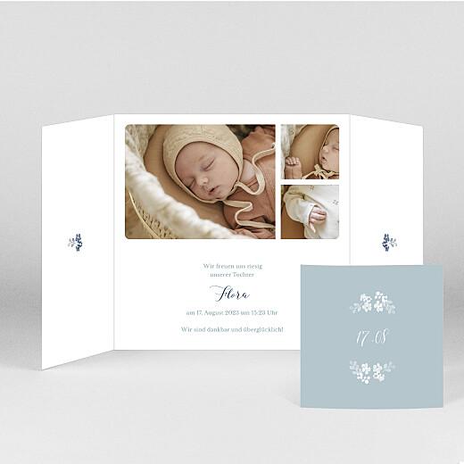 Geburtskarten Frühlingsbote (duo) blau - Ansicht 2