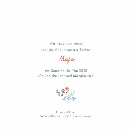 Geburtskarten Frühlingsblümchen (klappkarte) blau - Seite 3