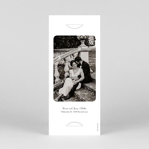 Dankeskarten Hochzeit Raffinesse (fotostreifen) beige - Ansicht 4