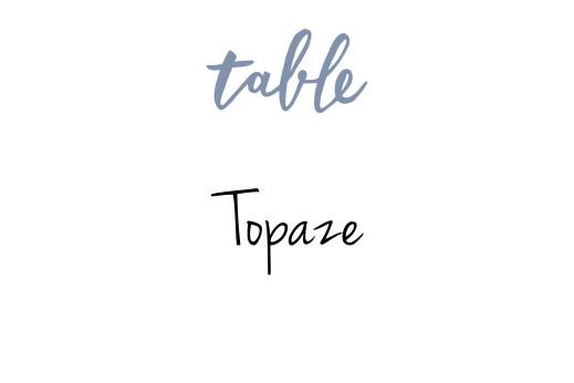 Tischkarten Hochzeit Liebesbotschaft blau