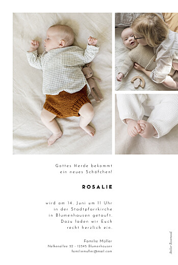 Taufeinladungen Kartusche weiß - Seite 2