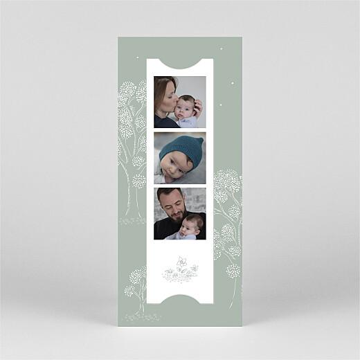 Geburtskarten Gutenachtgeschichte (fotostreifen) grün - Ansicht 3