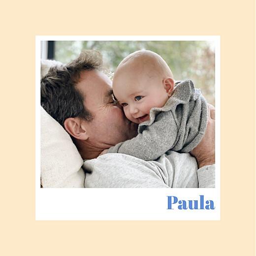 Geburtskarten Kleines polaroid aprikose