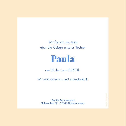 Geburtskarten Kleines polaroid aprikose - Seite 2