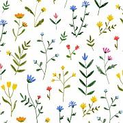 Geburtskarten Wildblumenwiese (leporello) weiß seite 3