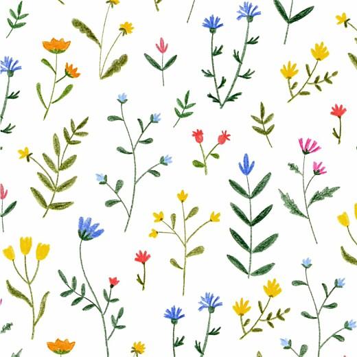 Geburtskarten Wildblumenwiese (leporello) weiß - Seite 3