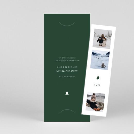 Weihnachtskarten Elegant tannenbaum (duo) grün - Ansicht 1