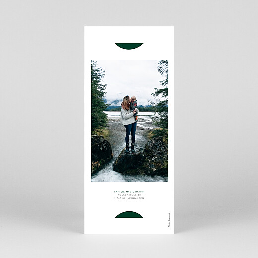 Weihnachtskarten Elegant tannenbaum (duo) grün - Ansicht 4