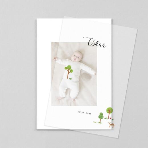 Geburtskarten Es war einmal... (transparentpapier) wald - Ansicht 1