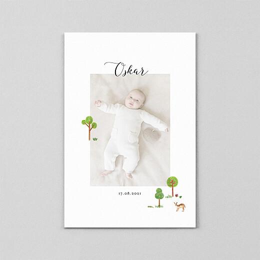 Geburtskarten Es war einmal... (transparentpapier) wald - Ansicht 2