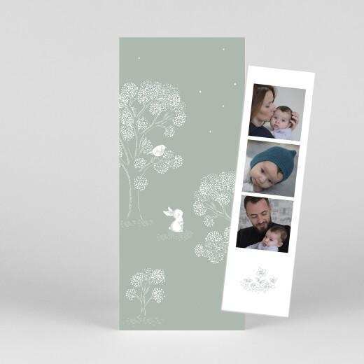 Geburtskarten Gutenachtgeschichte (fotostreifen) grün - Ansicht 1