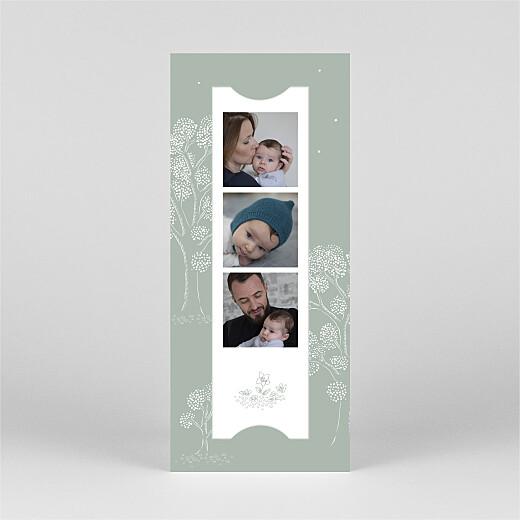 Geburtskarten Gutenachtgeschichte (fotostreifen) grün - Ansicht 2