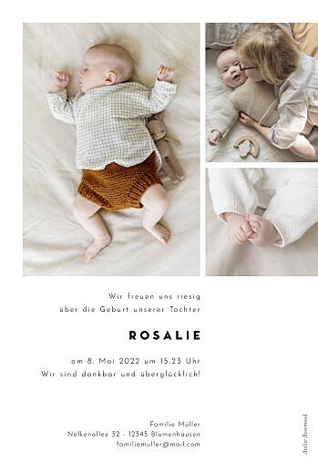 Geburtskarten Kartusche weiß - Seite 2