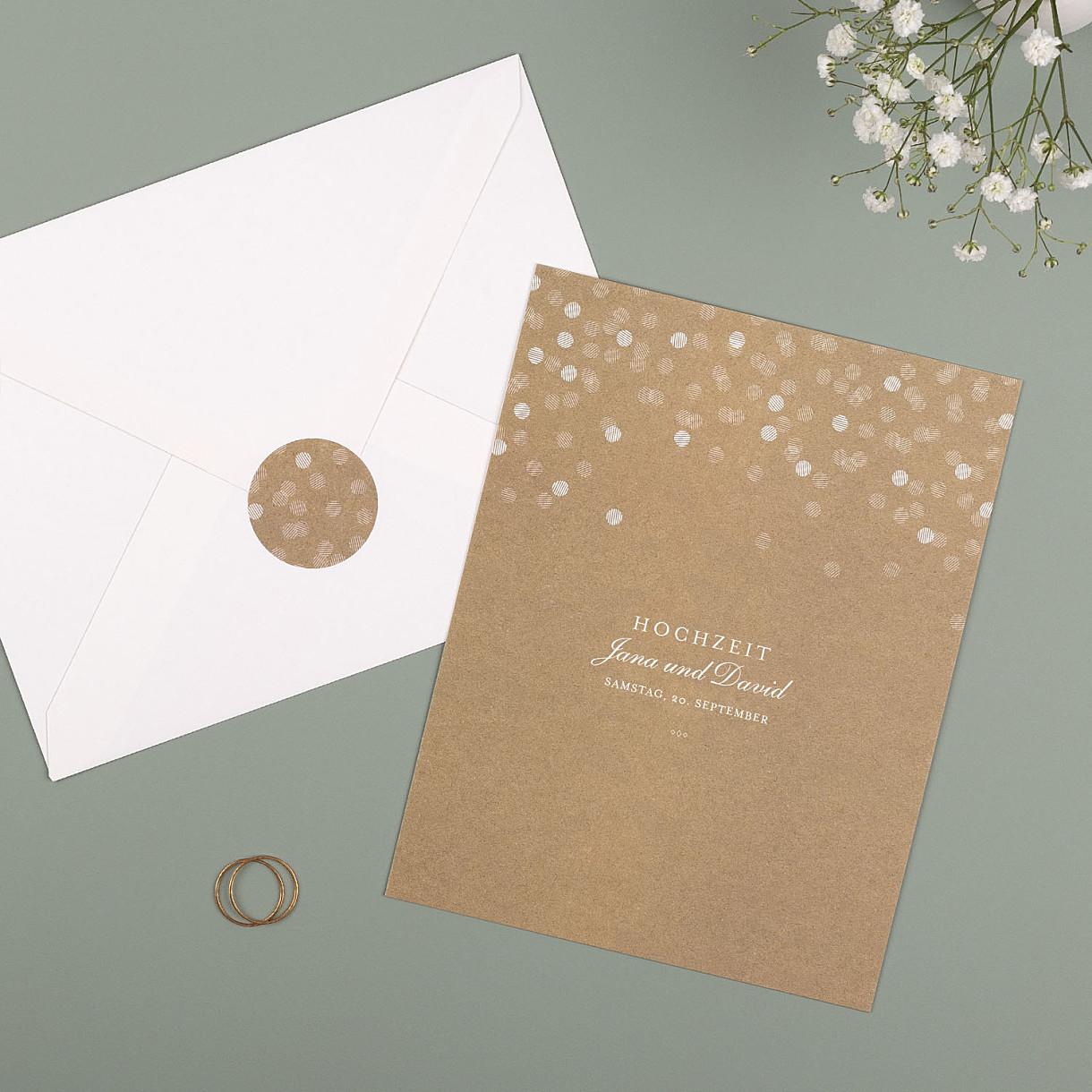 Hochzeitseinladungen lichterregen hoch