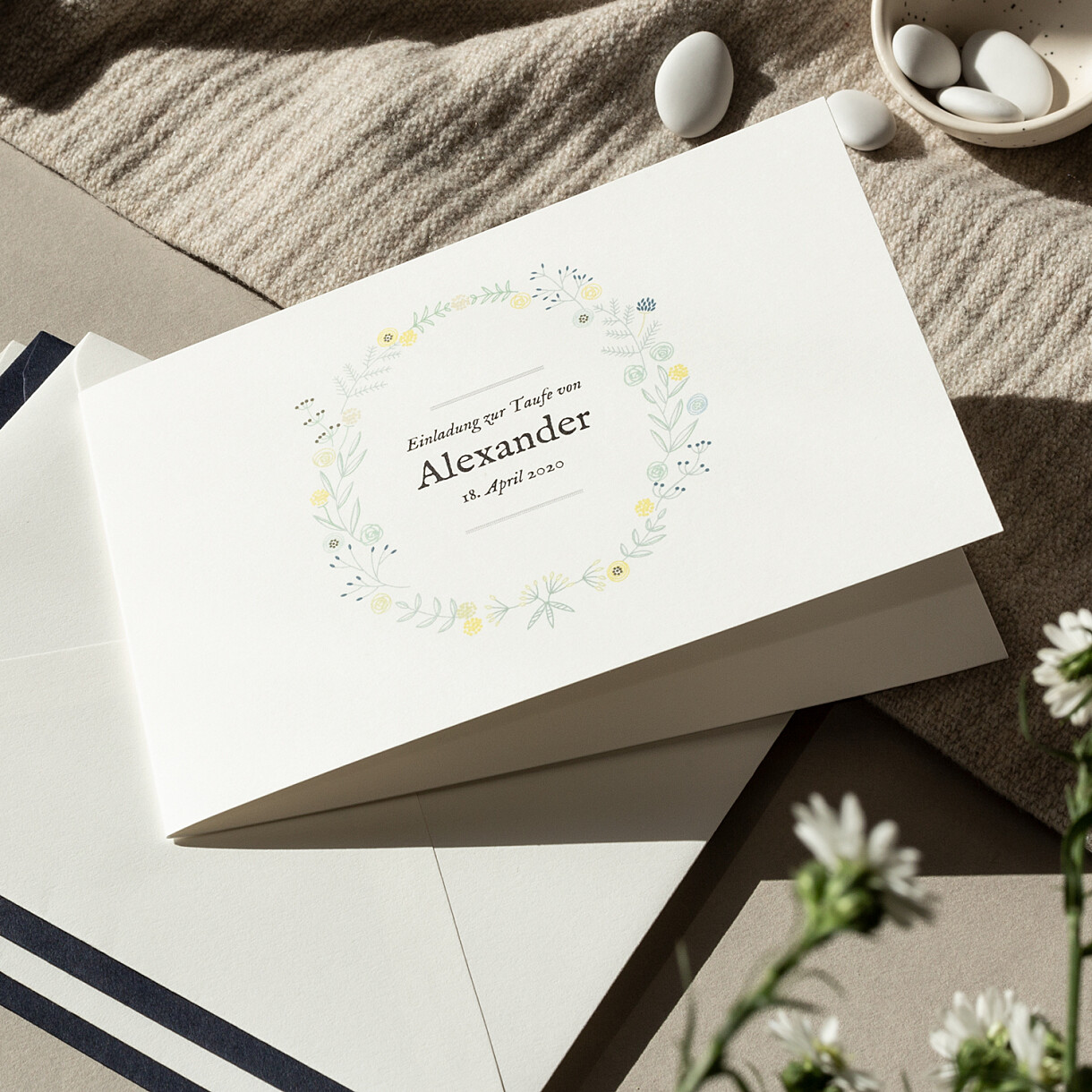 Taufeinladung Taufkarte Zu Gestalten Rosemood