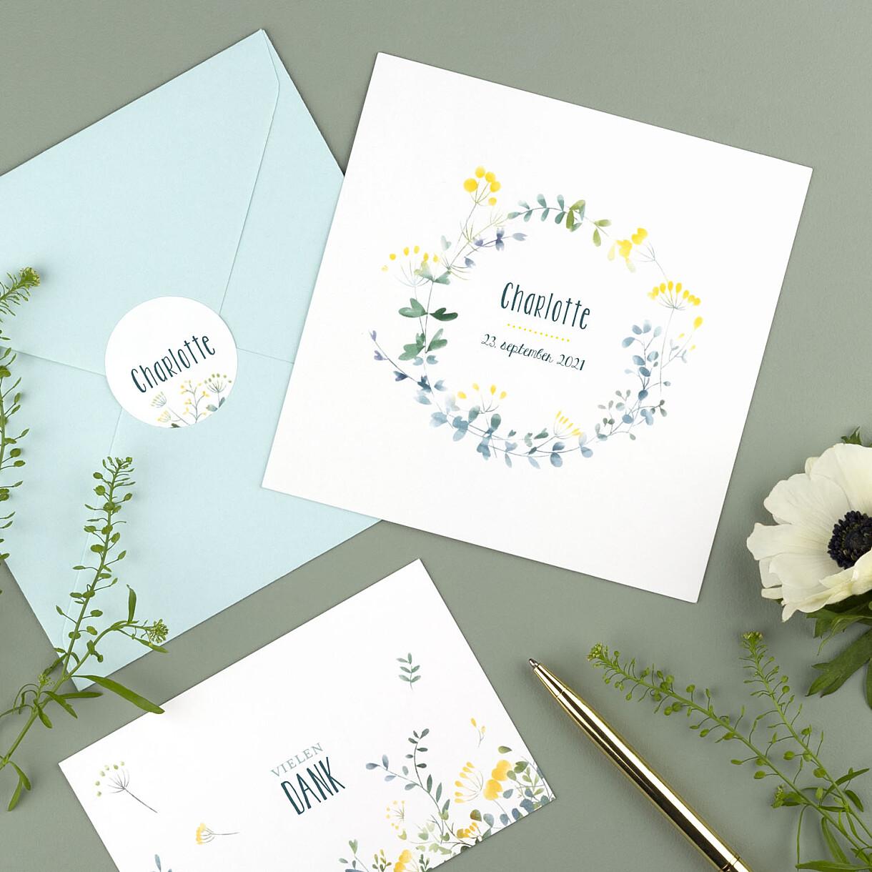 Dankeskarten wildblumen