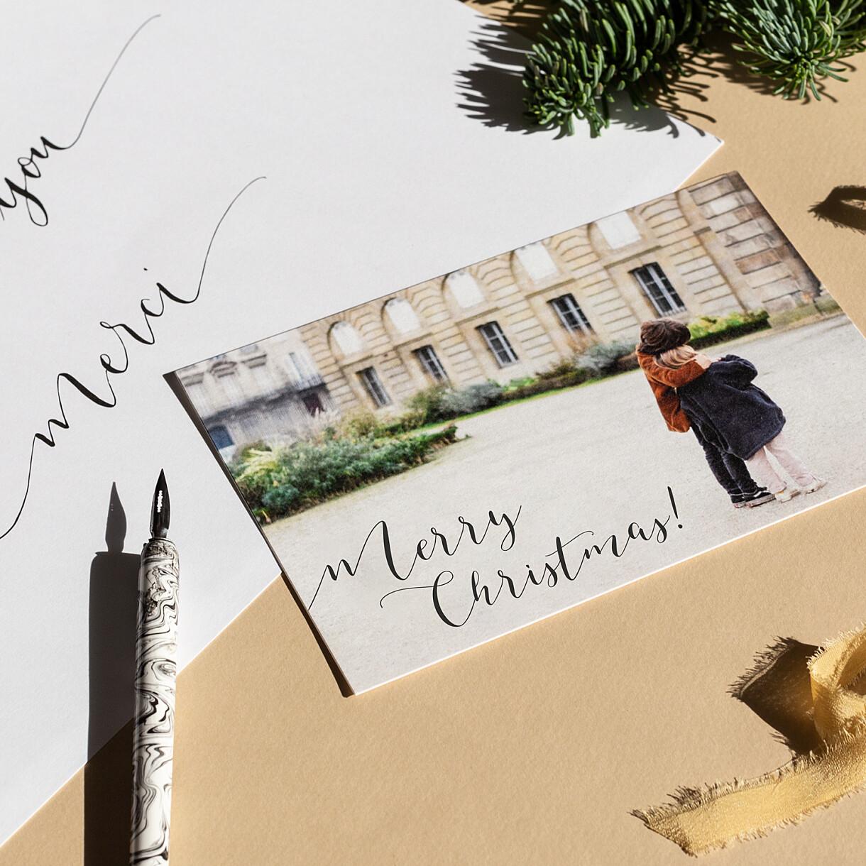 Weihnachtskarten kalligraphie