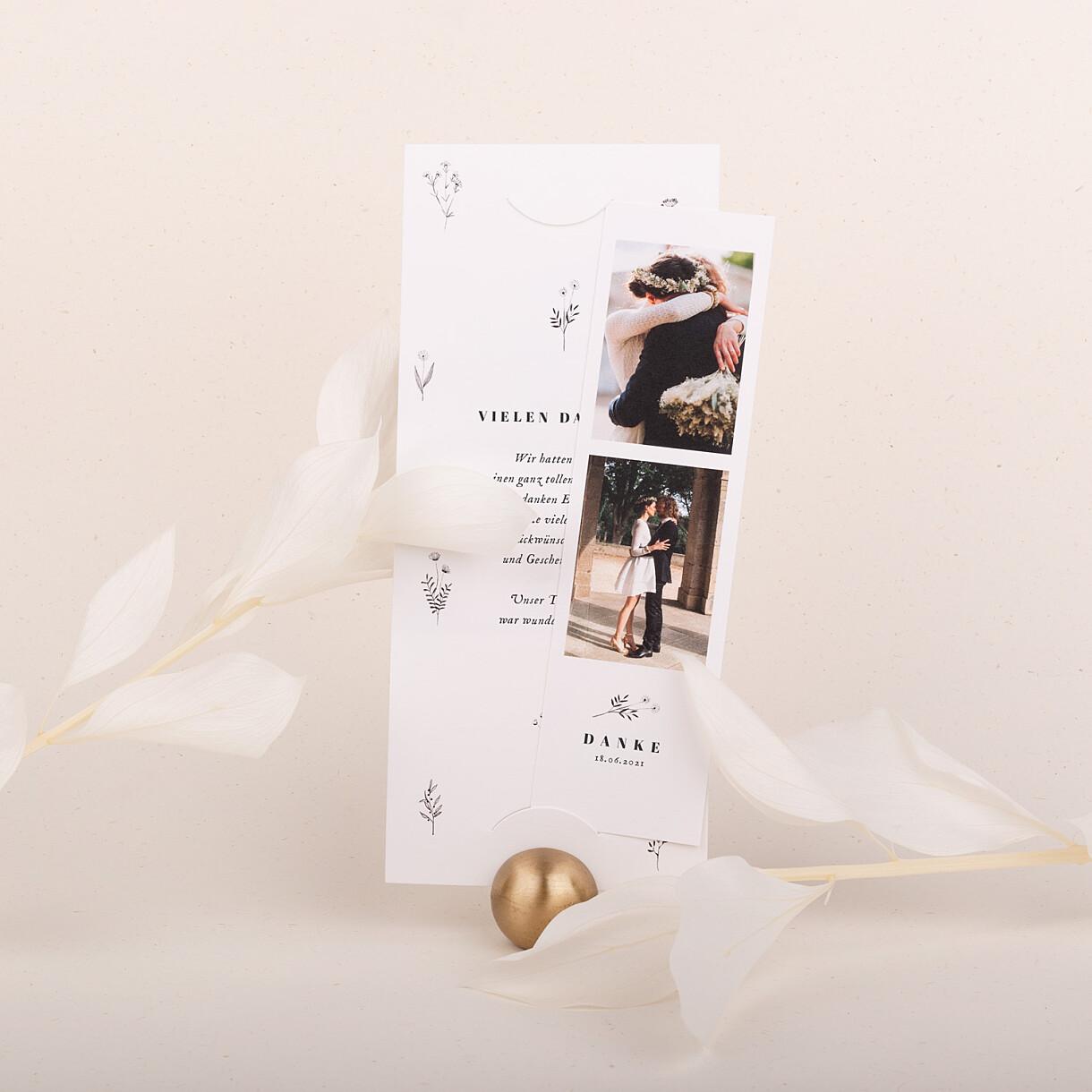Dankeskarten hochzeit floral minimal