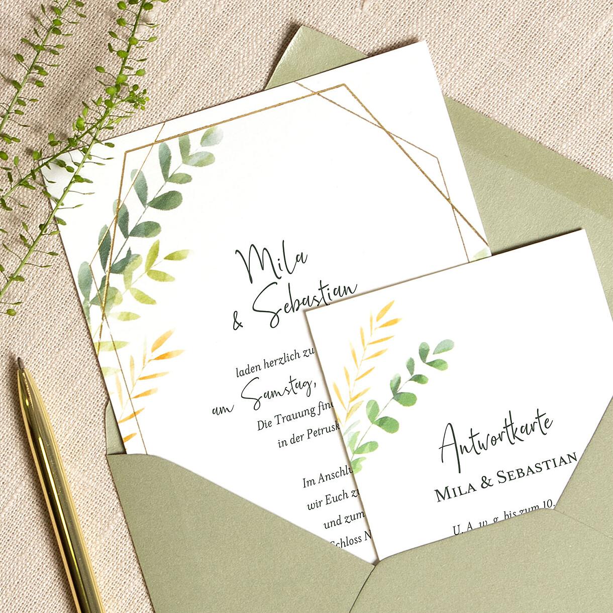 Hochzeitseinladungen flora