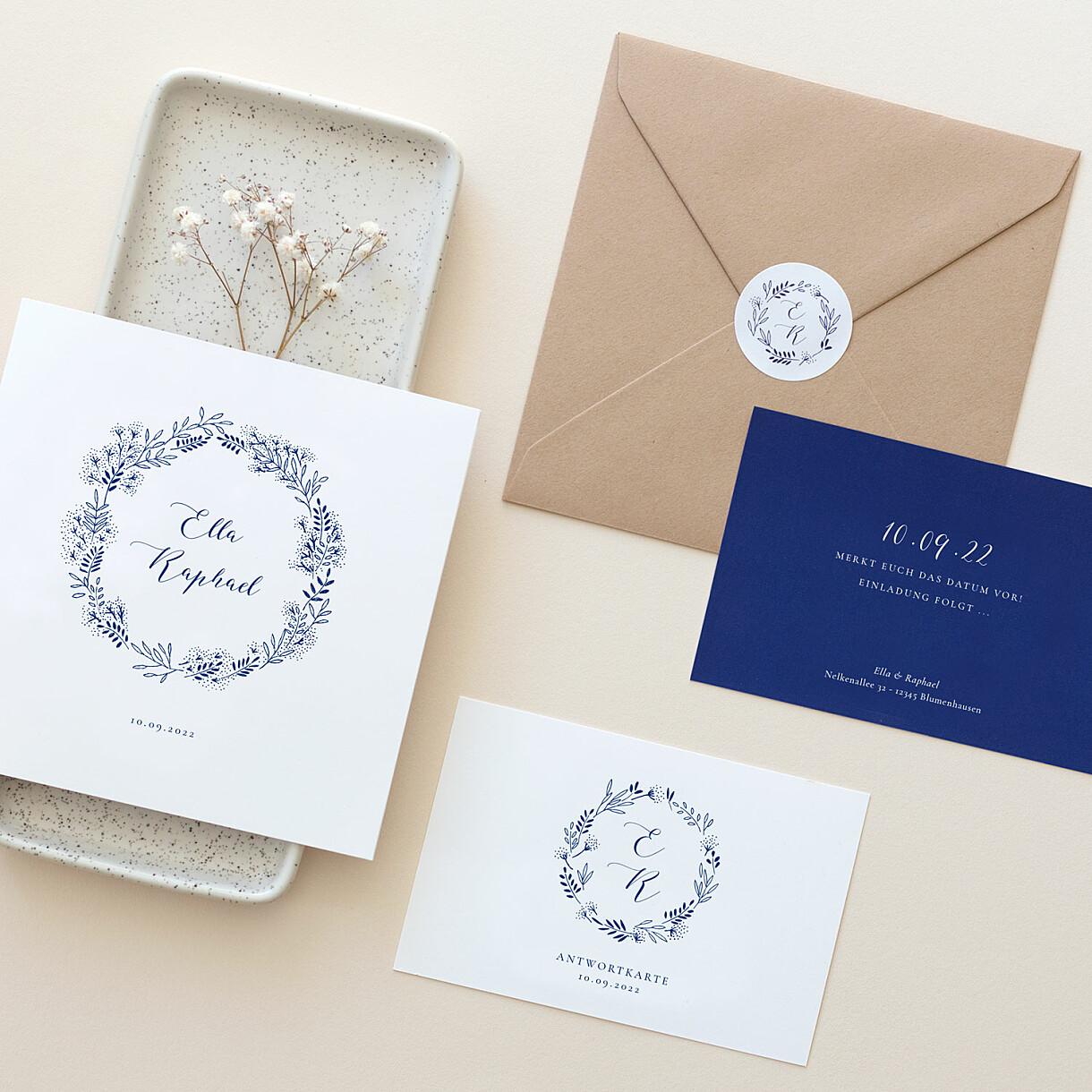 Hochzeitseinladungen wiesenblume